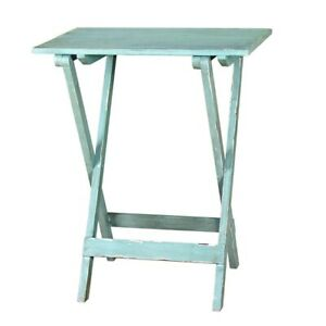 Mint-Green-Folding-Table-Wooden-Fold-Away-Single-by-Originals