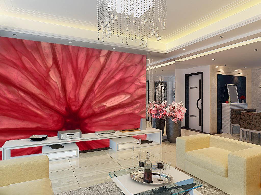3D Rotes Blaumenmuster 52 Tapete Tapeten Mauer Foto Familie Tapete Wandgemälde DE