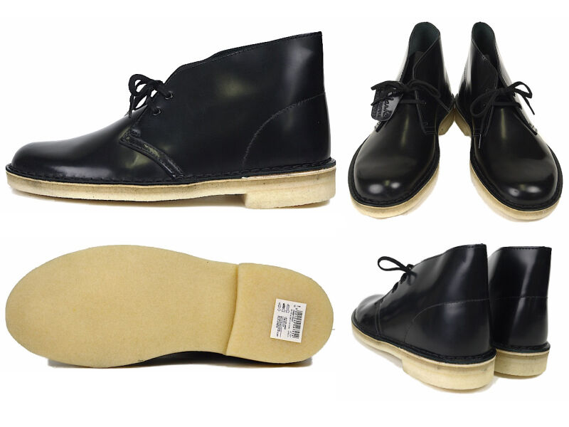 CLARKS ORIGINALS Damenschuhe  X DESERT BLACK BOOT  HI SHINE BLACK DESERT LEATHER  UK 5.5 D d981d6