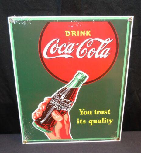 "NOS Coca Cola /""YOU TRUST IT/'S QUALITY/"" Porcelain Ande Rooney Coke 11.25/"" X 9/"""