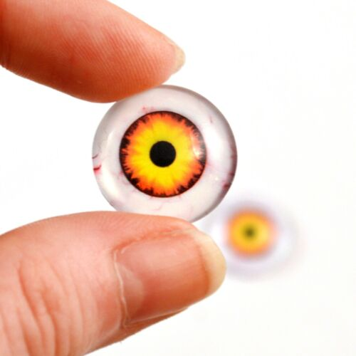 20mm Nightmare Clown Glass Eyes Scary Halloween Decorations or Art Doll Supplies