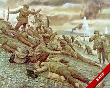 1ST WAVE AT OMAHA BEACH WWII D-DAY INVASION PAINTING US HISTORY ART CANVAS PRINT