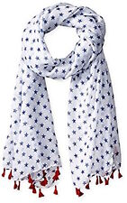 D&Y Mini Stars with Tassels Americana Scarf Blue or White