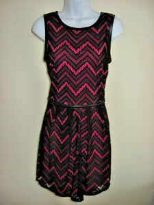 75be47656 Image is loading NWT-Speechless-Black-Lace-Over-Pink-Dress-Junior-
