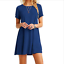 Women-039-s-Cotton-Short-Sleeve-Solid-Loose-Tunic-Top-Shirt-Blouse-Dress-Plus-Size thumbnail 9