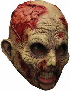 Halloween Decaying Blue Zombie Latex Mask Adult