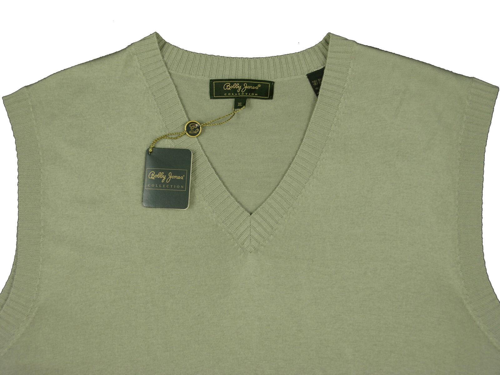 NEW 185 Bobby Jones Collection Silk & Cashmere Vest   L  Grün  Lightweight