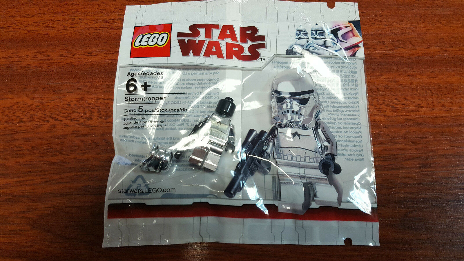 LEGO STAR WARS Minifig  CHROME STORMTROOPER  Polybag 4591726 Minifigure NEW RARE