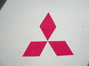 Pink mitsubishi emblem