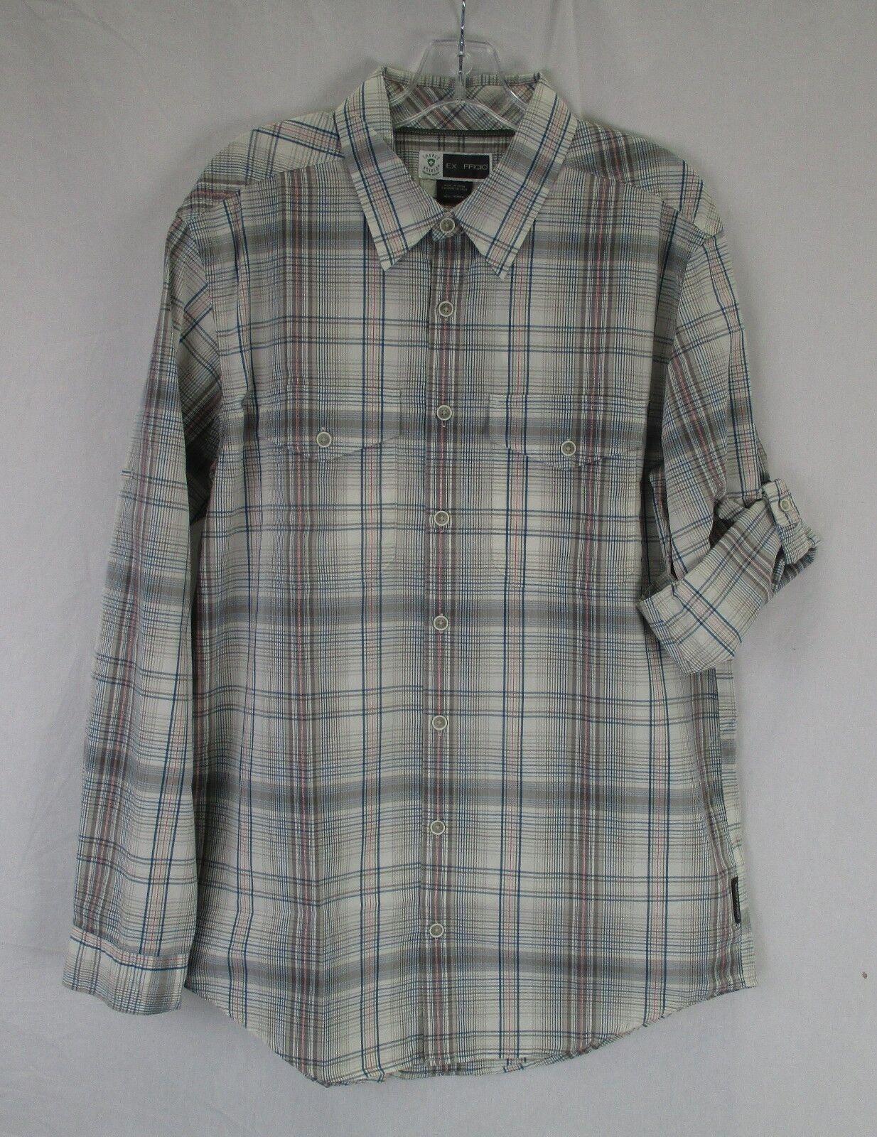 Exofficio Mens Bugsaway Sol Cool Plaid Shirt 1101 2923 Corsair Size Large