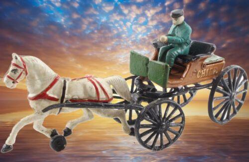 Die Zukunft Pferdekutsche 1 PS Eisenguss Modell zum nachdenken und dran gewöhnen