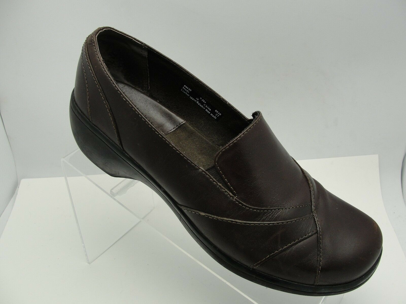 Clarks Clarks Clarks marrón mujer Slip on Leather Loafer zapatos 2  Wedge Heel Talla 9.5 M  60% de descuento