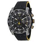 Tissot PRS 516 Automatic Chronograph Black Dial Black Rubber Mens Watch