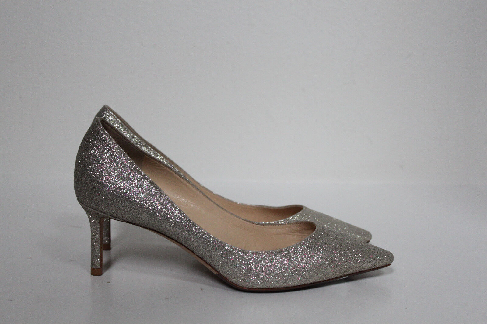 Sz 7   37 Jimmy Jimmy Jimmy Choo Romy Glitter Shimmer Point Toe Low Heel Classic Pump skor  stort urval och snabb leverans