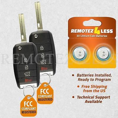 Remote For 2016 2017 2018 Kia Sorento Keyless Entry Car Flip Key Fob 910T