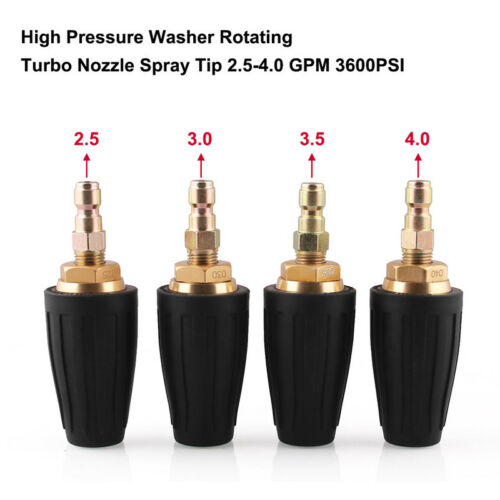 Power Pressure Washer 3600PSI Turbo Nozzle Rotating-Rotary 2.5 3.0 3.5,4.0 GPM