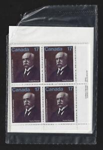Canada — Set of 4 Corner Blocks — 1980, Emmanuel-Persillier Lachapelle #877* MNH