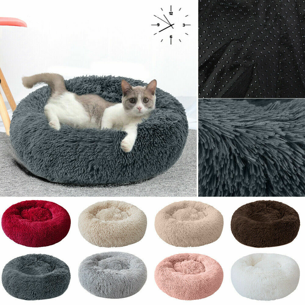 Comfy Calming Dog Cat Bed Round Warm Soft Plush Pet Bed Marshmallow Cat Bed XXXL 4