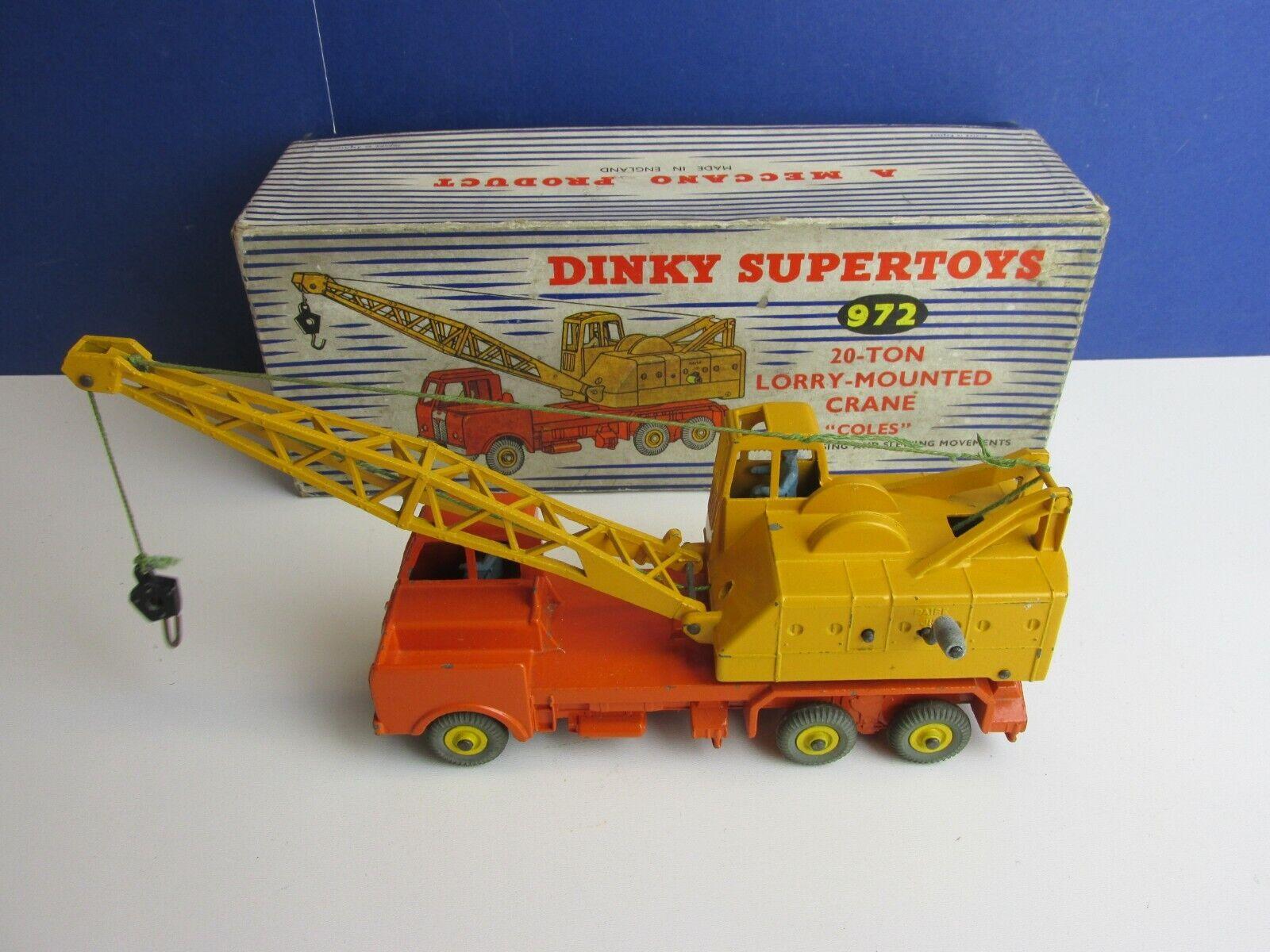 972 Dinky Supertoys 20 Tonelada Camión Grúa montado Vehículo Diecast Vintage 74N En Caja