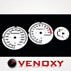 Honda CBR 600 F4 99-00 UNIQUE Gauge Faces WHITE Speedo Dial Clock Tach