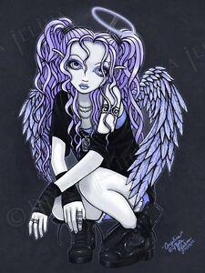 Image Is Loading Violet Gothic Tattoo Angel Big Eyed Fairy Myka