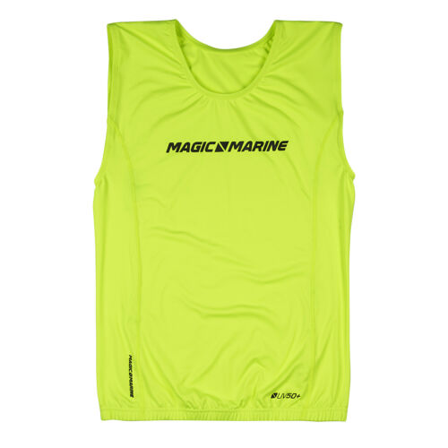 Bootsport T-Shirt Brand in Nylon Ärmellos Gelb Marke Magic Marine Mm-15001.18