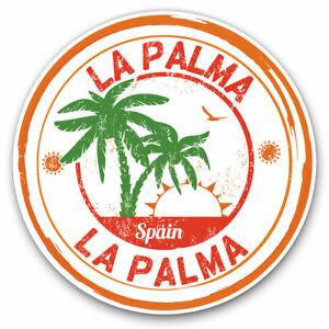 2-x-Vinyl-Stickers-10cm-La-Palma-Spain-Espana-Palm-Trees-Cool-Gift-6101