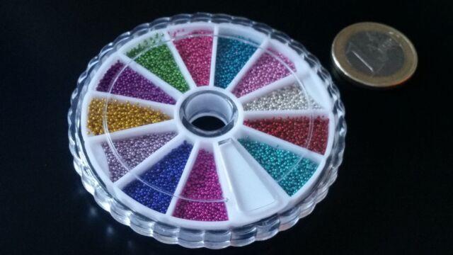 Rueda de adornos bolitas bolas colores para uñas acrilicas gel uña complemento