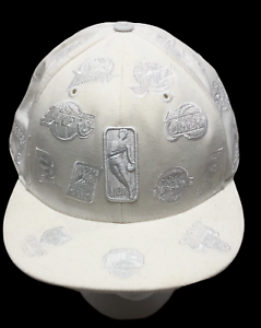 Reebok-NBA-All-Teams-Logos-White-Embroidered-Fitted-Hat-Size-8-Basketball
