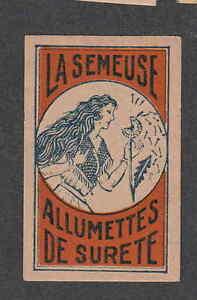 Ancienne étiquette Allumette Belgique BN2254 La Semeuse Femme UwEcwJJi-09095835-358654713