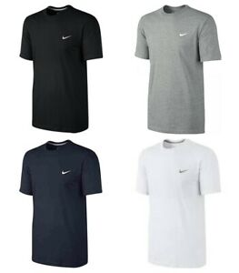Nike-Mens-T-Shirts-Embroidered-Swoosh-Logo-Tee-Casual-Sports-Tops-Cotton