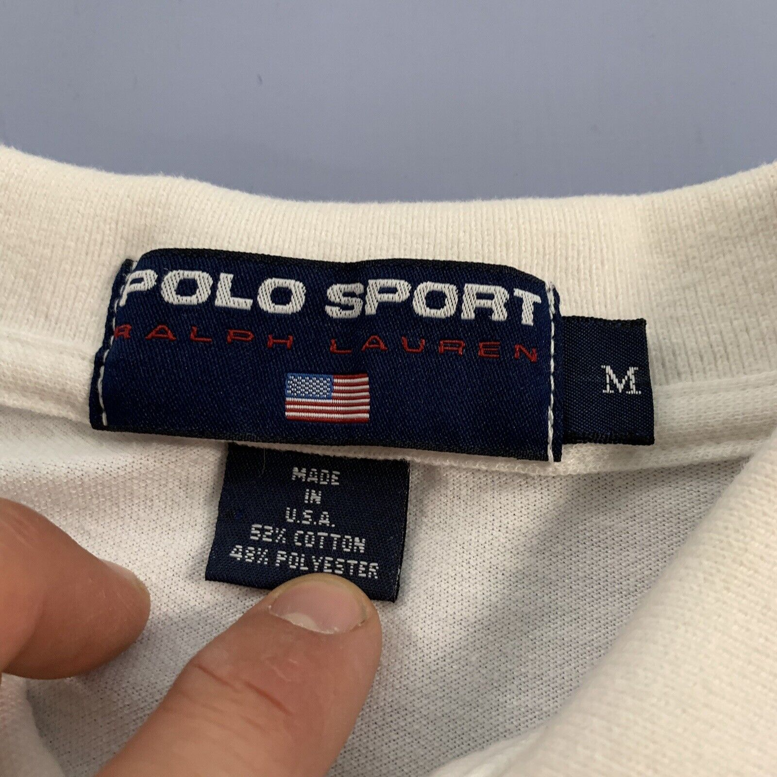 Vtg 80s 90s Polo Sport Tennis Shirt Single Stitch… - image 4