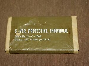 VINTAGE-WWII-GI-SOLDIER-COVER-PROTECTIVE-INDIVIDUAL-UNUSED