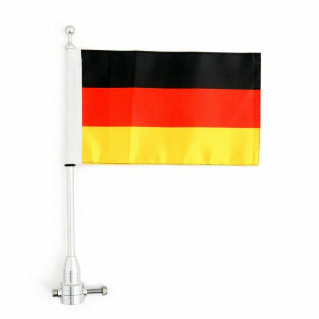Luggage Rack Vertical Drapeau,poteau & Germany Flag Pour Softail Iron 883 A