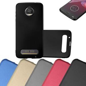 Custodia-Cover-Silicone-per-Motorola-MOTO-Z2-TPU-Case-Metallico-Opaco