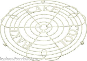 Kitchen-Craft-Crema-Cable-Soporte-De-Tarta-Bandeja-enfriamiento-amp
