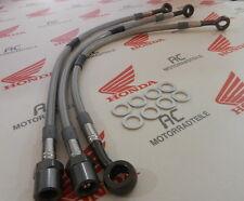 Honda CB 750 Four Stahlflex Bremsleitung Set Titan Doppel Bremsscheibe US Lenker