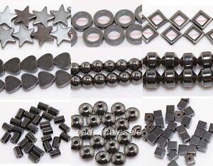 20-100X-Black-Tube-Round-Rhombus-Star-Hematite-Gemstone-Findings-Spacer-Beads-E