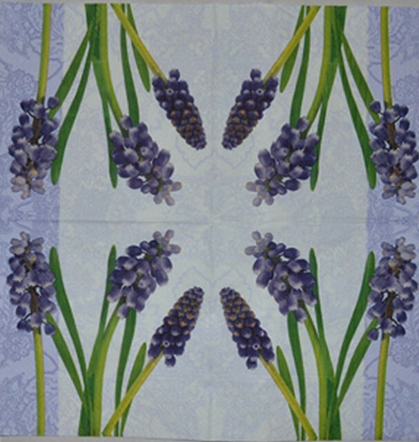 PAPER TABLE NAPKINS FOR CRAFT BLUE FLOWERS SPRING DECOUPAGE TEA PARTIES 321
