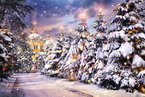 Christmas Palace.Details About Vinyl Studio Backdrop Photography Prop Winter Christmas Palace Photo Background