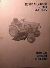 Kubota B6000 Diesel 4x4 Tractor 42 Center Mower Implement Owner Amp Parts Manual