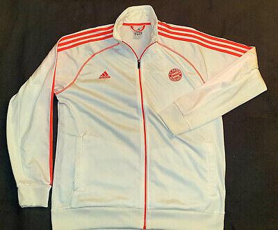 FC Bayern München Adidas Herren Trainingsjacke Gr. XL Weiß