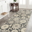 thumbnail 1 - Maidste Floral Hooked Gray/Ivory Rug