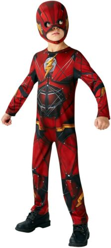 Boys Justice League The Flash Hero Book Day Fancy Dress Costume Outfit 3-10yrs