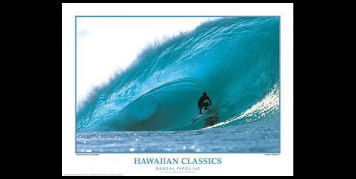 BANZAI PIPELINE Hawaii Surfing Action Poster Gallery Print by Creation Captured