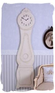 Suédois Horloge Murale Blanc Mora Montre Shabby Chic Grossuhr Maison De Campagne 3anpns5f-10035510-205116216