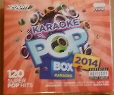 ZOOM KARAOKE CDG    POP BOX  a year in karaoke  2014   6  DISCS 120 SUPER HITS