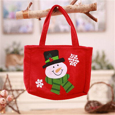 Cute Santa Claus Gift Bags Merry Christmas Kids Candy Cookie Storage Bag G