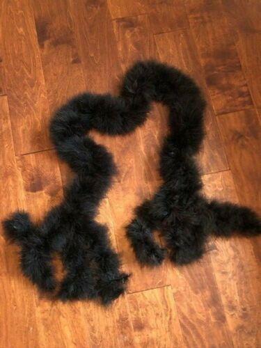 "Vintage Black Feather Boa 64"" Long Soft Ostrich? 4"