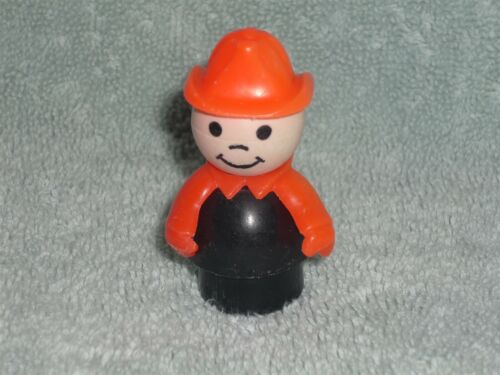 Fisher Price Little People Vintage Fireman Chief No Freckles #2